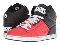 Osiris Nyc 83 Clk Red Black White Shoes