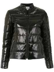 Spacenk Nk Leather Puffer Jacket Black
