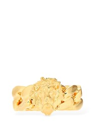 Versus By Versace Braided Lion Ring Gold