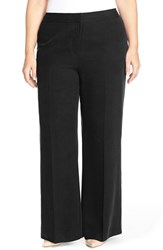 Plus Size Women's Halogen Wide Leg Tencel Pants Black