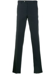 Dell'oglio Straight Leg Trousers Wool Mohair Blue