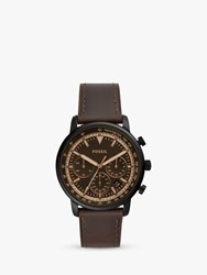 Fossil Fs5529 'S Goodwin Chronograph Date Leather Strap Watch Brown