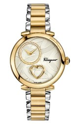 Salvatore Ferragamo Women's Cuore Diamond Bracelet Watch 39Mm