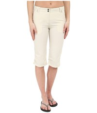 Jack Wolfskin Kalahari 3 4 Pants White Sand Women's Casual Pants