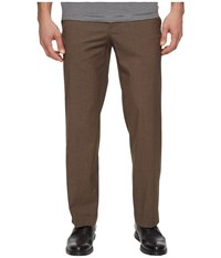 Dockers Solid With Dual Action Straight Fit Pants Brown Men's Casual Pants