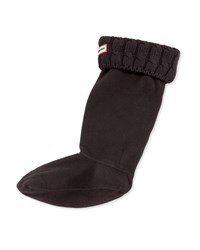 Hunter Six Stitch Cable Boot Sock Black
