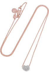 Monica Vinader Nura Rose Gold Vermeil Diamond Necklace One Size
