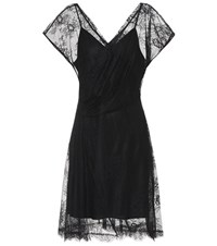 Diane Von Furstenberg Lace Dress Black