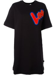 Love Moschino Patch T Shirt Dress Black