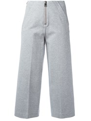 Dondup Deluxe Cropped Trousers Grey