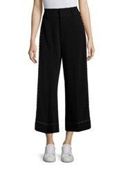 Derek Lam Wide Leg Cropped Trousers Black