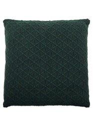 Allude Cable Knitted Cashmere Cushion Dark Green