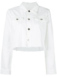 Each X Other Cropped Denim Jacket White