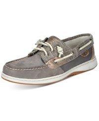 Sperry Ivy Fish Boat Shoes Women's Shoes Silver Sparkle