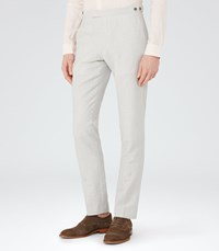 Reiss Rumble T Mens Wool And Linen Trousers In Grey