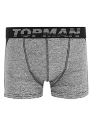 Topman Black Salt And Pepper Sports Trunks