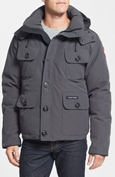 Men's Canada Goose 'Selkirk' Slim Fit Water Resistant Down Parka With Detachable Hood Graphite