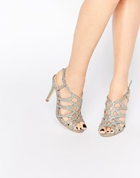 Miss Kg Gertrude Silver Caged Sandals Silver