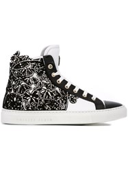 Philipp Plein Embellished Hi Top Sneakers Black