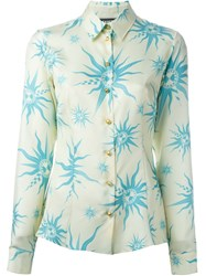 Fausto Puglisi Sun Print Shirt Nude And Neutrals