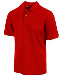 Club Room Short Sleeve Solid Estate Performance Sun Protection Polo Fire