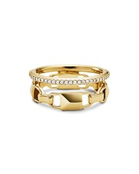 Michael Kors Pave Link Stacked Ring Gold