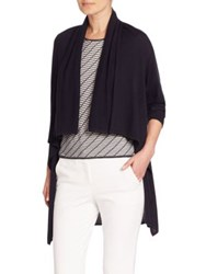 Armani Collezioni Silk And Cashmere Blend Cardigan Midnight