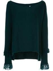 Taylor Ribbed Boat Neck Jumper Green