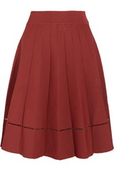 A.L.C. Nicole Cutout Stretch Knit Skirt Brick