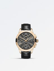 Iwc Iw380802 Ingenieur 18 Carat Rose Gold And Leather Watch