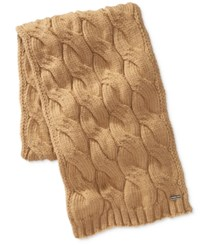 Michael Kors Men's Cable Knit Scarf Camel Cam