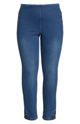 Lysse Plus Size Boyfriend Denim Leggings Mid Wash