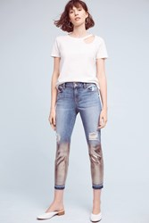 Anthropologie Level 99 Amber Mid Rise Slouchy Skinny Jeans Denim Medium Blue