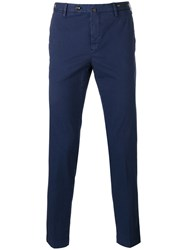 Pt01 Skinny Cropped Trousers Blue
