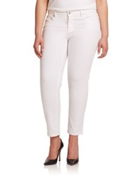 Eileen Fisher Plus Size Skinny Ankle Jeans White