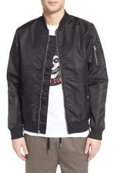 The Rail Men's Nylon Bomber Black Rock