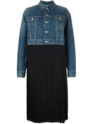 Comme Des Garcons Junya Watanabe Two In One Pleated Dress Blue