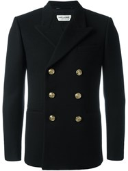 Saint Laurent Double Breasted Buttoned Jacket Black