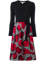 Diane Von Furstenberg 'Poppy Chain Rose' Dress Black