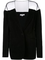 Stella Mccartney Transparent Panel Blazer Black