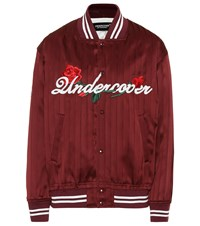 Undercover Silk Bomber Jacket Red
