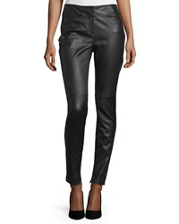 Cnc Costume National Skinny Leather Ankle Pants Black Women's