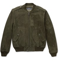 Polo Ralph Lauren Suede Bomber Jacket Army Green