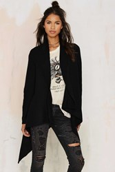 Nasty Gal Cold Front Drape Cardigan