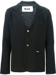 Bark Notched Lapels Cardigan Black