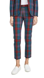 Paul Smith Plaid Trousers Red