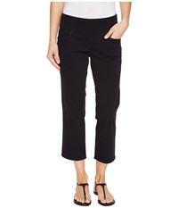 Jag Jeans Baker Pull On Crop In Bay Twill Black Women's Casual Pants
