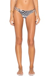 Pilyq Strappy Teeny Bikini Bottom Black And White
