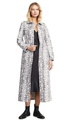 Denim X Alexander Wang Printed Trench Coat Faded Python