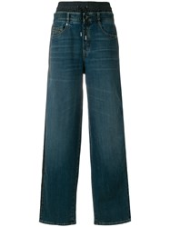 Diesel Black Gold High Waisted Wide Leg Jeans Blue